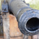 Cannon gun standing guard