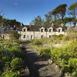 Beach cottage from Alpine Garden at Lissadell RED